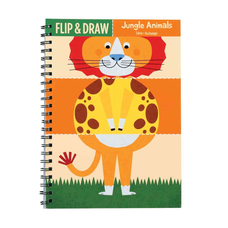 Jungle Animals Flip and Draw By Mack, Steve (ILT)